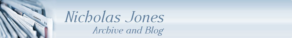 Nicholas Jones - Blog and Archive Website